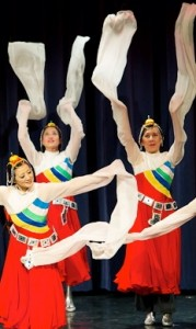 "Melody Chinese Dance Troupe performing ""Peaceful Joy"" at CultureFest II. Photo credit: Ted Castro."