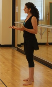 Persian dancer Shahrzad Khorsandi teaching at Festival 2012.