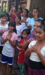 The children of Yayasan Widya Guna