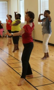 Enjoying the graceful movements of Persian dance during class at Festival 2012.