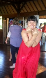 Bali retreat co-facilitator Maria Sangiorgi enjoying a blissful moment.