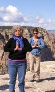 Meditating with the sacred surroundings at the Grand Canyon.